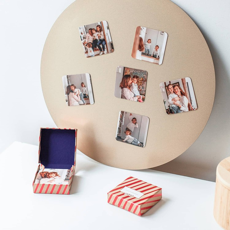 Square personalised Christmas magnets Cheerz 4