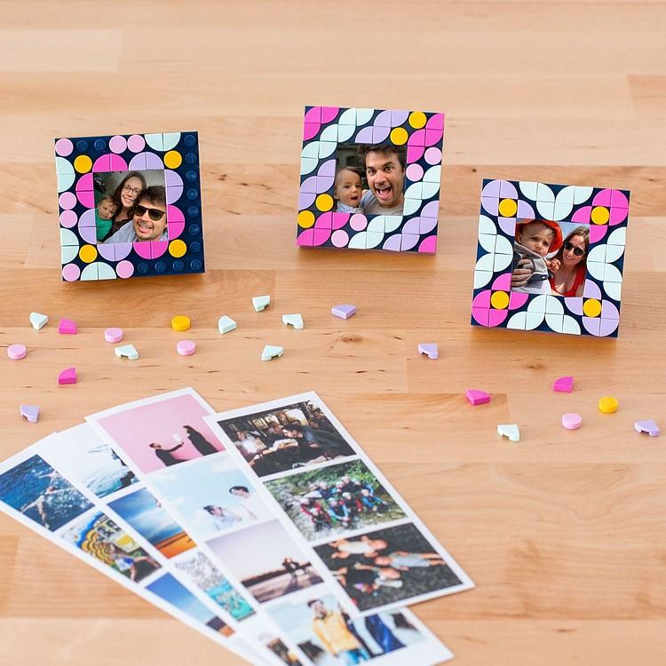 Tiras fotomatón + mini-marco LEGO® DOTS de regalo Cheerz 3