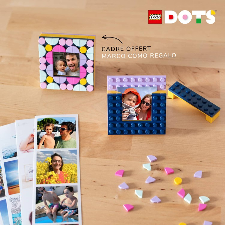 Tiras fotomatón + mini-marco LEGO® DOTS de regalo Cheerz 1